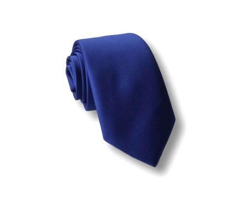 Jednobojna plava kravata